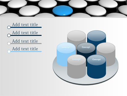 Blue Button PowerPoint Template Slide 12