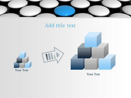 Blue Button PowerPoint Template Slide 13