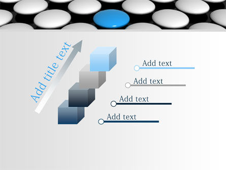 Blue Button PowerPoint Template Slide 14