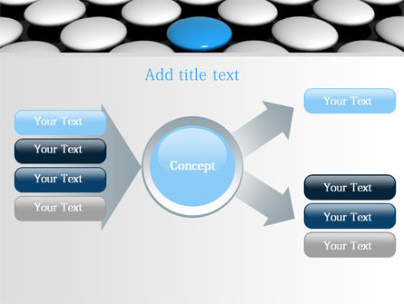 Blue Button PowerPoint Template Slide 15