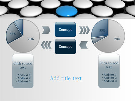Blue Button PowerPoint Template Slide 16