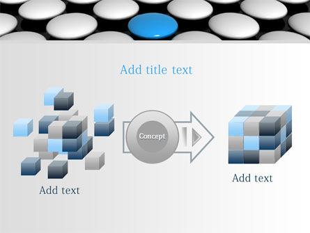 Blue Button PowerPoint Template Slide 17