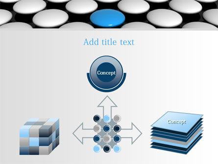Blue Button PowerPoint Template Slide 19