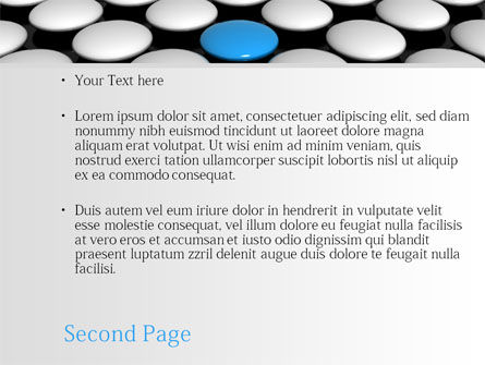 Blue Button PowerPoint Template Slide 2