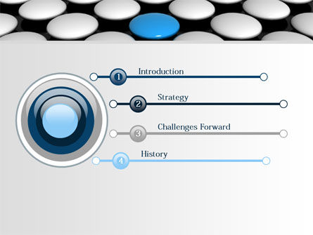 Blue Button PowerPoint Template Slide 3