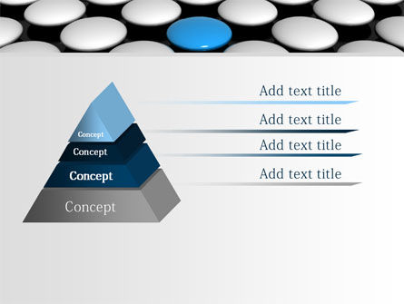 Blue Button PowerPoint Template, Slide 4, 08136, Consulting — PoweredTemplate.com