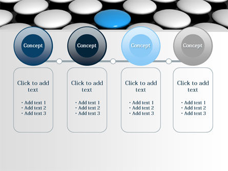 Blue Button PowerPoint Template Slide 5