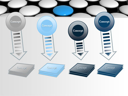 Blue Button PowerPoint Template Slide 8