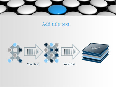 Blue Button PowerPoint Template Slide 9
