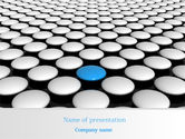 Consulting: Blue Button PowerPoint Template #08136