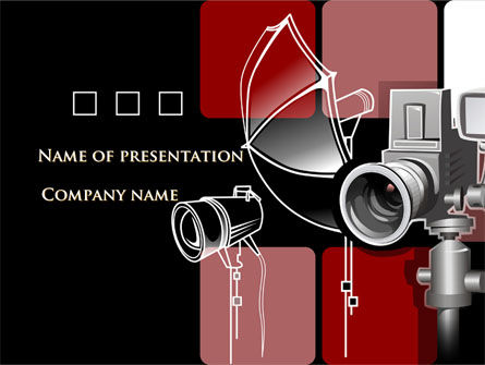 Careers/Industry: Photo Equipment Free PowerPoint Template #08137