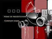 Careers/Industry: Modello PowerPoint Gratis - Attrezzatura fotografica #08137
