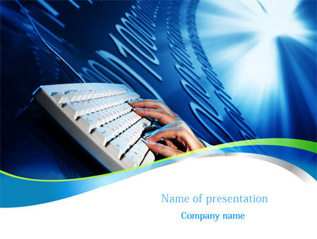 Computers: Typing PowerPoint Template #08139