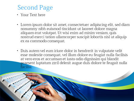 Typing PowerPoint Template Slide 2