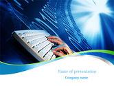 Computers: Plantilla de PowerPoint - mecanografía #08139