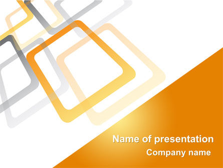 Abstract/Textures: Orange Framework PowerPoint Template #08141