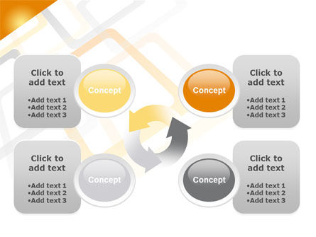 Orange Framework PowerPoint Template Slide 9