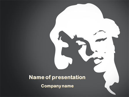 People: Marilyn Monroe PowerPoint Template #08142