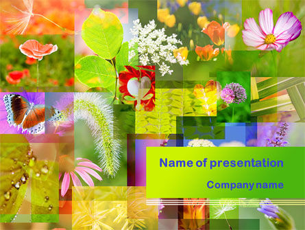 Nature & Environment: Flower Varieties PowerPoint Template #08143