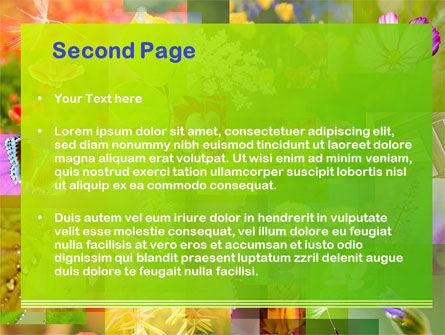 Flower Varieties PowerPoint Template, Slide 2, 08143, Nature & Environment — PoweredTemplate.com