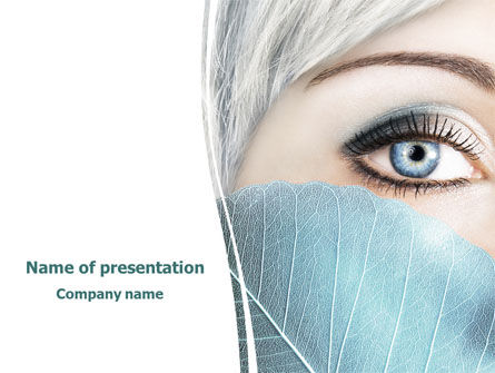 People: Cold Beauty PowerPoint Template #08144