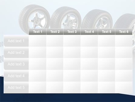 Tires On Wheels PowerPoint Template Slide 15
