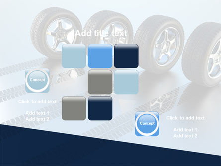 Tires On Wheels PowerPoint Template Slide 16