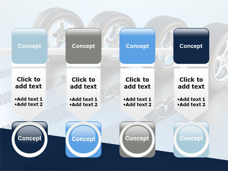 Tires On Wheels PowerPoint Template Slide 18