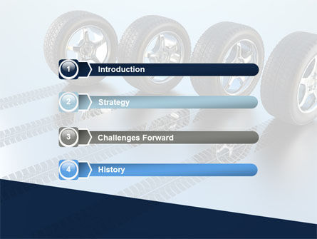 Tires On Wheels PowerPoint Template Slide 3