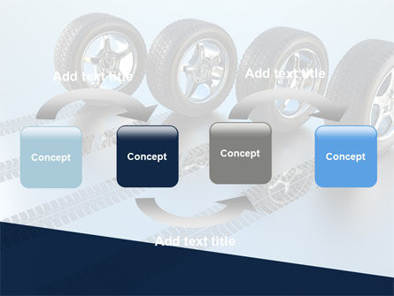 Tires On Wheels PowerPoint Template Slide 4