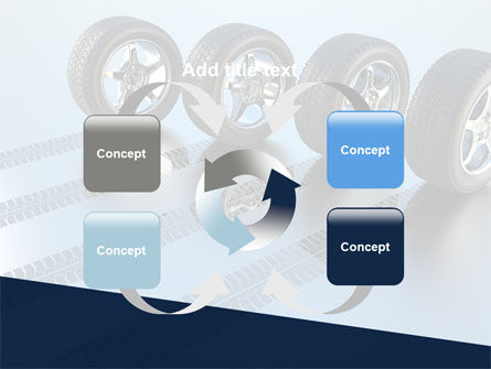Tires On Wheels PowerPoint Template Slide 6