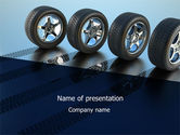 Tires On Wheels PowerPoint Template#1