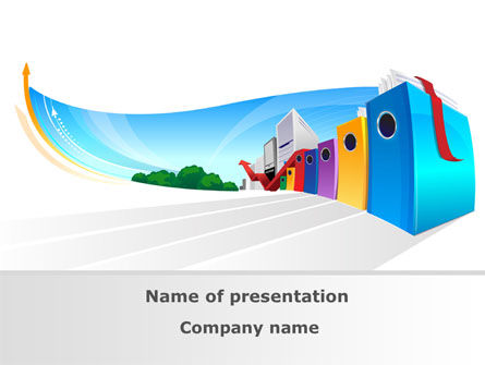 Office Data PowerPoint Template, 08147, Business — PoweredTemplate.com