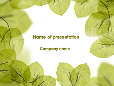 Lucid Leaves PowerPoint Template, 08148, Nature & Environment — PoweredTemplate.com