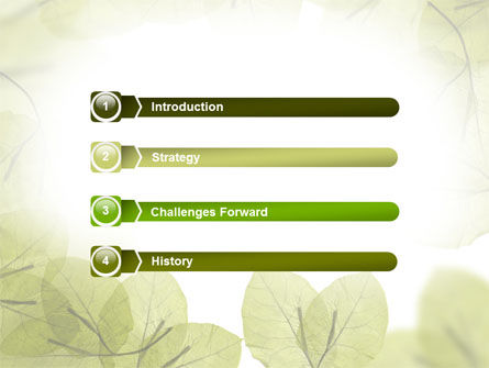 Lucid Leaves PowerPoint Template, Slide 3, 08148, Nature & Environment — PoweredTemplate.com