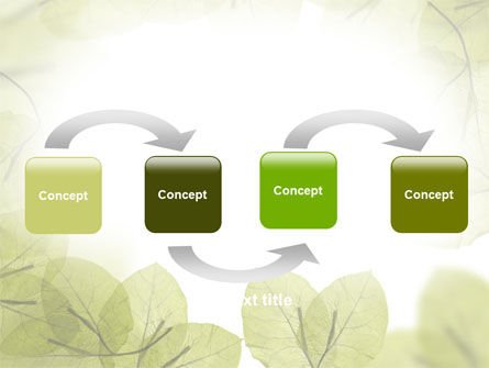 Lucid Leaves PowerPoint Template, Slide 4, 08148, Nature & Environment — PoweredTemplate.com