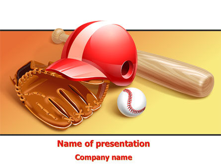 Baseball Bat PowerPoint Template, 08149, Sports — PoweredTemplate.com