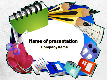 Stationery PowerPoint Template, 08150, Education & Training — PoweredTemplate.com