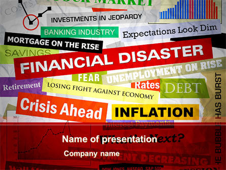 Financial/Accounting: Financial Disaster PowerPoint Template #08154