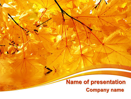 Nature & Environment: Yellow Tree PowerPoint Template #08157