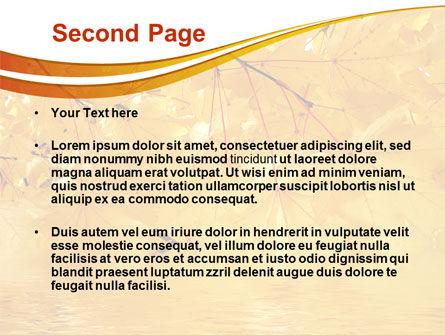 Yellow Tree PowerPoint Template, Slide 2, 08157, Nature & Environment — PoweredTemplate.com