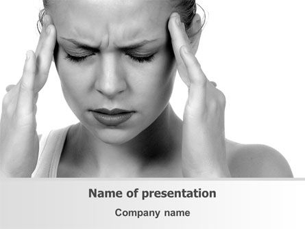 Migraine PowerPoint Template, 08158, Medical — PoweredTemplate.com