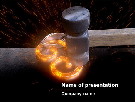 Forging PowerPoint Template, 08159, Careers/Industry — PoweredTemplate.com