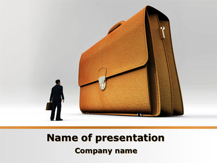 Briefcase PowerPoint Template, 08160, Business — PoweredTemplate.com