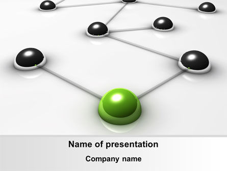Network Link PowerPoint Template, 08161, Technology and Science — PoweredTemplate.com