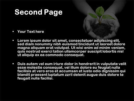 Sprout In Hands PowerPoint Template Slide 2