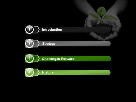 Sprout In Hands PowerPoint Template, Slide 3, 08162, Agriculture — PoweredTemplate.com