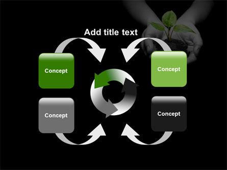 Sprout In Hands PowerPoint Template Slide 6