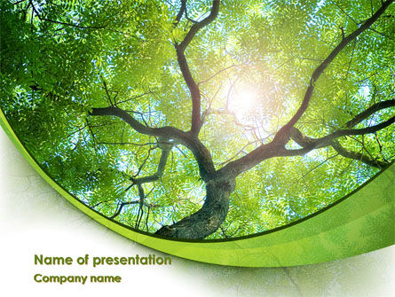 Tree Top PowerPoint Template, 08163, Nature & Environment — PoweredTemplate.com