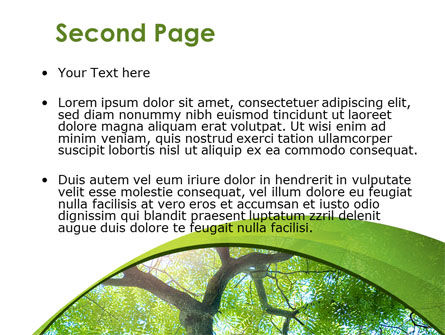 Tree Top PowerPoint Template, Slide 2, 08163, Nature & Environment — PoweredTemplate.com